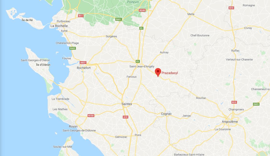 localisation de notre suite en Charente Maritime